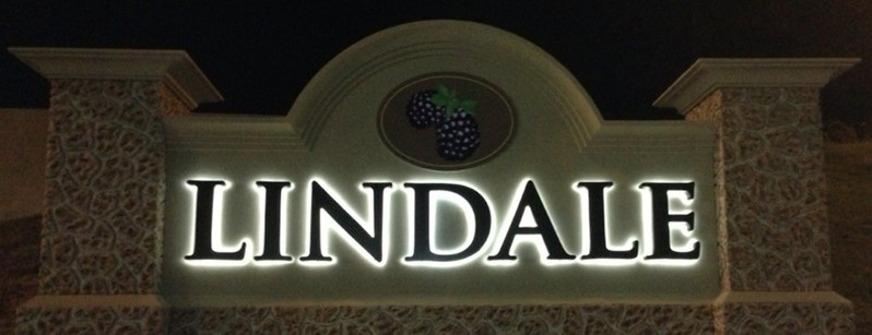 City of Lindale sign